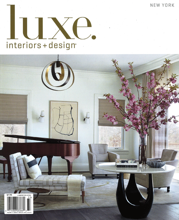 LUXE INTERIORS AND DESIGN (shelter island on the cover)